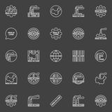 Made in China business icons Royalty Free Stock Images
