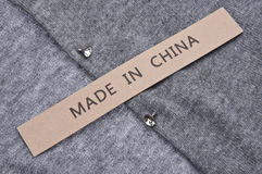 Made in China Clothing Concept Stock Photography