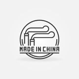 MADE IN CHINA concept icon Royalty Free Stock Image