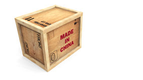 Made in China Crate Royalty Free Stock Photos