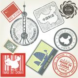 Made in China grunge rubber stamps Royalty Free Stock Photography