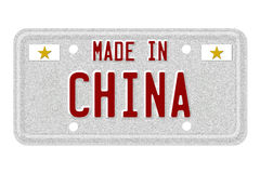 Made in China License Plate Stock Photo