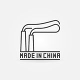 Made in China line icon Stock Image