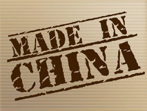Made In China Means Factory Asia And Production Royalty Free Stock Image