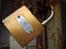 Made in china padlock stock images