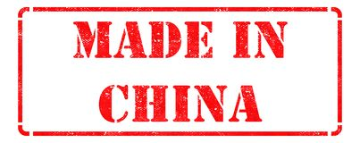 Made in China - Red Rubber Stamp. Stock Photography