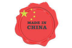 Made in China seal, stamp. 3D rendering Stock Images