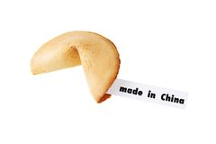 Made in China - single fortune cookie Royalty Free Stock Photography