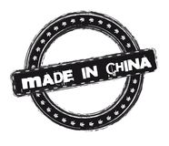 Made in china stamp Stock Photos