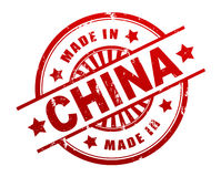Made in china stamp 3d illustration Stock Photos