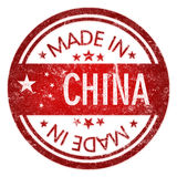 Made in China stamp Royalty Free Stock Photography
