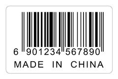 Made in China Tag Royalty Free Stock Images