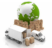 Made in China - Trade in Asia. International Trans. Vehicles for the transport of goods Royalty Free Stock Photography