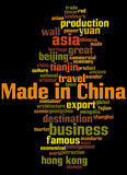 Made in China, word cloud concept 2 Stock Images