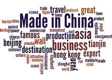 Made in China, word cloud concept 9 Stock Images