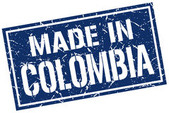 Made in Colombia stamp Royalty Free Stock Photography