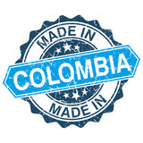 made in Colombia vintage stamp Stock Photos