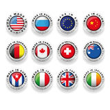 Made in country icons Royalty Free Stock Images