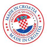 Made in Croatia grunge printable label with flag Stock Photo