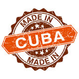 Made in Cuba vintage stamp Royalty Free Stock Image