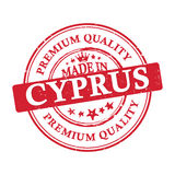 Made in Cyprus, Premium Quality grunge printable sticker. Made in Cyprus, Premium Quality grunge printable label / stamp / sticker. CMYK colors used Stock Photos