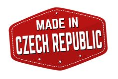 Made in Czech Republic label or sticker royalty free stock images