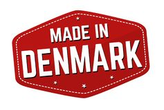 Made in Denmark label or sticker royalty free stock image