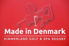 Made in Denmark sign on a panel stock photography