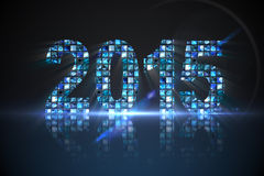 2015 made of digital screens in blue Royalty Free Stock Images