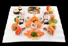 Made dish sakura. Made dish of rolls sushi on white Stock Photography