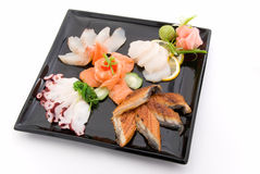 Made dish of sashimi 2. Made dish of sashimi on white Royalty Free Stock Photography