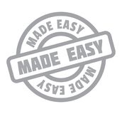 Made Easy rubber stamp. Grunge design with dust scratches. Effects can be easily removed for a clean, crisp look. Color is easily changed Royalty Free Stock Photo