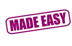 Made easy. Rubber stamp with text made easy inside,  illustration Stock Image