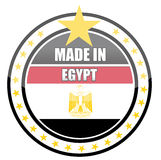 Made in egypt. Illustration stamp isolated over a white background Royalty Free Stock Photo