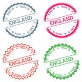 Made In England badge isolated on white. Royalty Free Stock Image