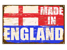 Made In England Enamel Sign Stock Images
