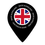 Made In England - Map Pointer Flag - Vector Illustration - Isolated On White Stock Image