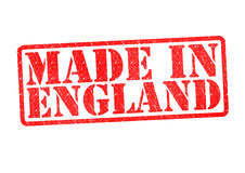 MADE IN ENGLAND Rubber Stamp Stock Photo