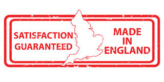 Made in England, Satisfaction Guaranteed Royalty Free Stock Images