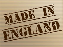Made In England Shows United Kingdom And British Stock Photo