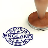 Made In England Stamp Showing English Product Or Produce Stock Image