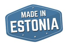 Made in Estonia label or sticker royalty free stock photos
