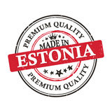 Made in Estonia, Premium Quality sticker. Made in Estonia, Premium Quality grunge printable label / stamp / sticker. CMYK colors used Royalty Free Stock Photo