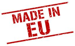 Made in eu stamp. Made in eu square grunge stamp isolated on white background. eu vector illustration