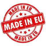 Made in eu stamp Royalty Free Stock Photos