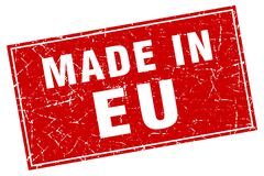 Made in eu stamp. Made in eu square stamp isolated on white background royalty free illustration