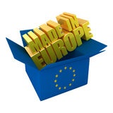 Made in Europe Royalty Free Stock Photo