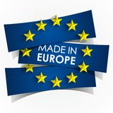 Made In Europe Badge Stock Photo