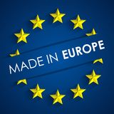 Made In Europe Badge Royalty Free Stock Images