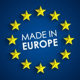 Made In Europe Badge Stock Photography